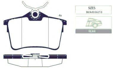 Комплект тормозных колодок, дисковый тормоз GOODWILL 2059 R