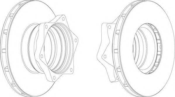 FERODO (НОМЕР: FCR164A) Тормозной диск