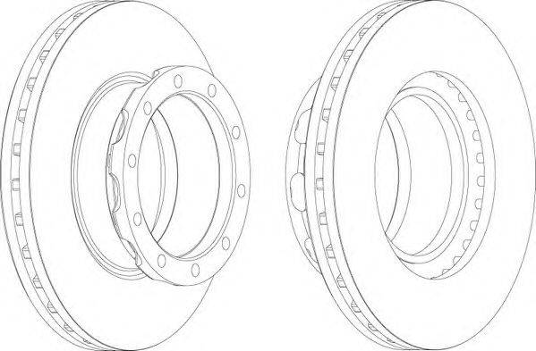 FERODO (НОМЕР: FCR288A) Тормозной диск