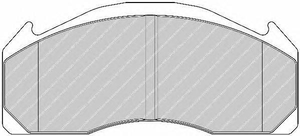 FERODO (НОМЕР: FCV1962B) Комплект тормозных колодок, дисковый тормоз