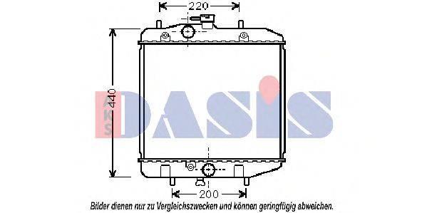 Радиатор, охлаждение двигателя AKS DASIS 360170N