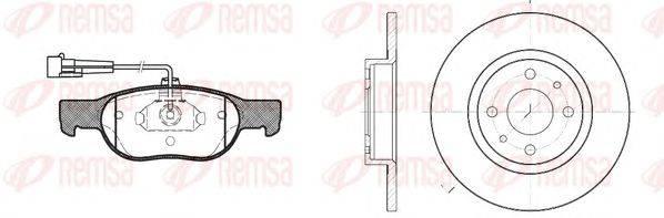 REMSA (НОМЕР: 8588.00) Комплект тормозов, дисковый тормозной механизм