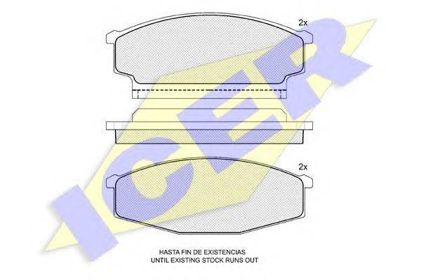 Комплект тормозных колодок, дисковый тормоз ICER 140533