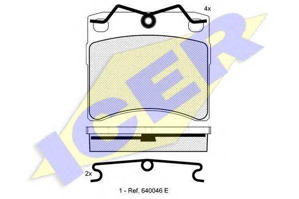 Комплект тормозных колодок, дисковый тормоз ICER 140895
