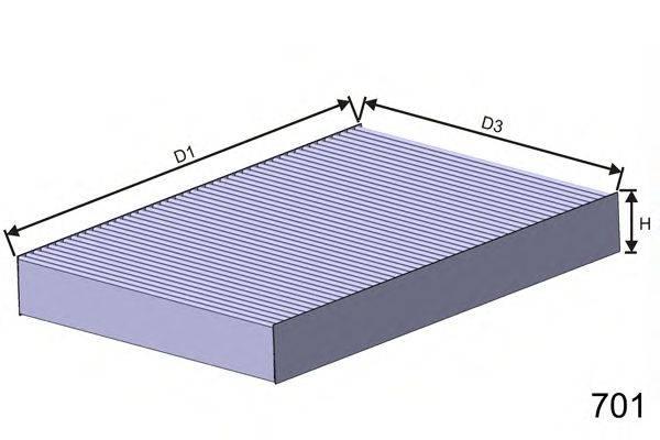 Фильтр, воздух во внутренном пространстве MISFAT HB149