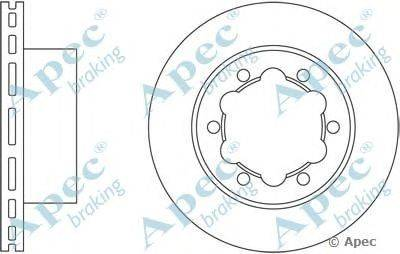 APEC braking (НОМЕР: DSK2450) Тормозной диск