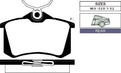 Комплект тормозных колодок, дисковый тормоз GOODWILL 2056 R