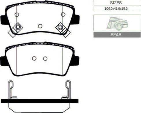 Комплект тормозных колодок, дисковый тормоз GOODWILL 2066 R