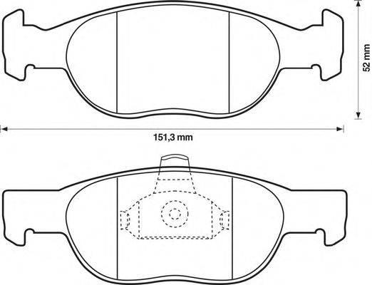 JURID (НОМЕР: 571972J) Комплект тормозных колодок, дисковый тормоз