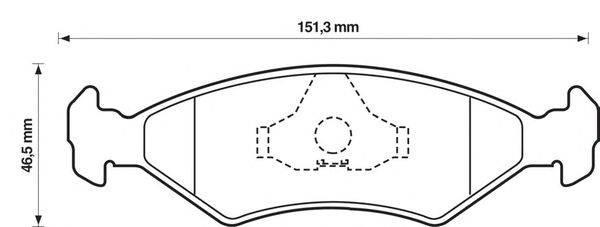 Комплект тормозных колодок, дисковый тормоз BENDIX 571536B