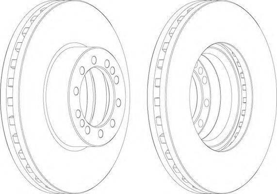 FERODO (НОМЕР: FCR257A) Тормозной диск