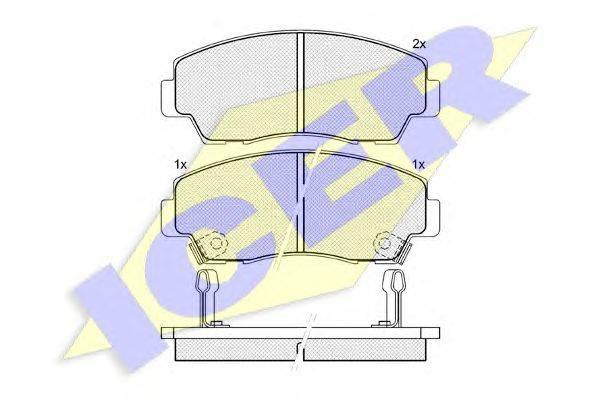 Комплект тормозных колодок, дисковый тормоз ICER 140636