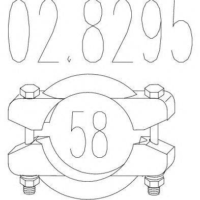 Соединительные элементы, система выпуска MTS 028295