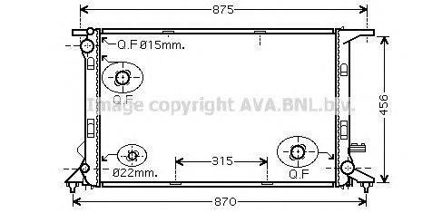 Радиатор, охлаждение двигателя AVA QUALITY COOLING AI2290