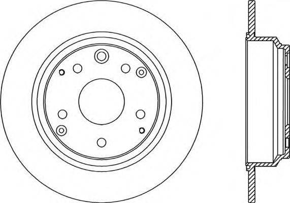 Тормозной диск OPEN PARTS BDR2188.10