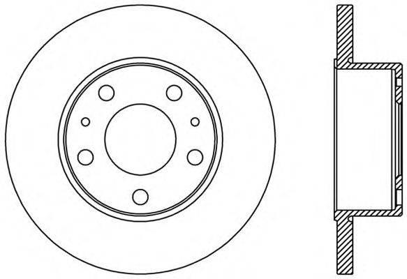 Тормозной диск OPEN PARTS BDA2437.10