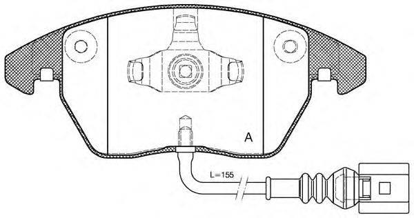 Комплект тормозных колодок, дисковый тормоз OPEN PARTS BPA1030.01