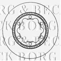 BORG & BECK (НОМЕР: BBD5904S) Тормозной диск