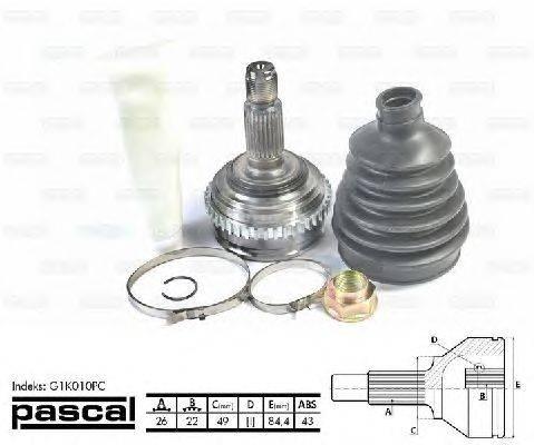 PASCAL (НОМЕР: G1K010PC) Шарнирный комплект, приводной вал