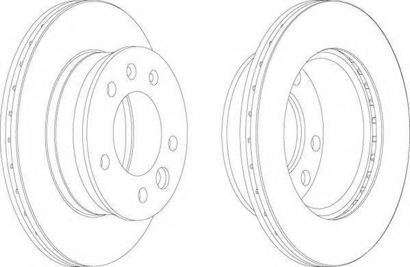 FERODO (НОМЕР: FCR228A) Тормозной диск