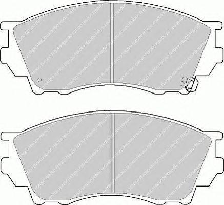 FERODO (НОМЕР: FDB1025) Комплект тормозных колодок, дисковый тормоз