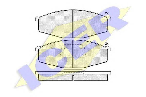 Комплект тормозных колодок, дисковый тормоз ICER 140376