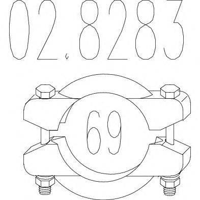 Соединительные элементы, система выпуска MTS 028283