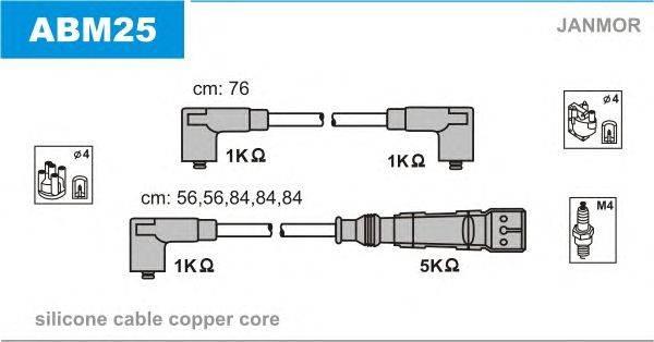 Комплект проводов зажигания JANMOR ABM25