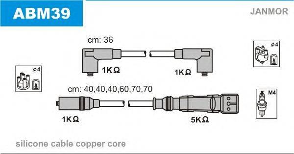 Комплект проводов зажигания JANMOR ABM39