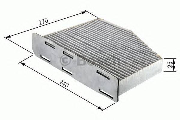 Фильтр, воздух во внутренном пространстве BOSCH 1987432064