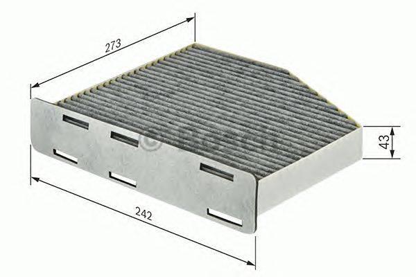 Фильтр, воздух во внутренном пространстве BOSCH 1987432464