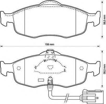Комплект тормозных колодок, дисковый тормоз BENDIX 571522B