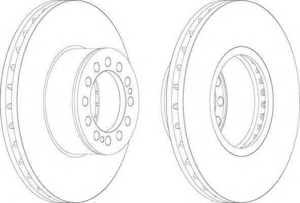 FERODO (НОМЕР: FCR214A) Тормозной диск