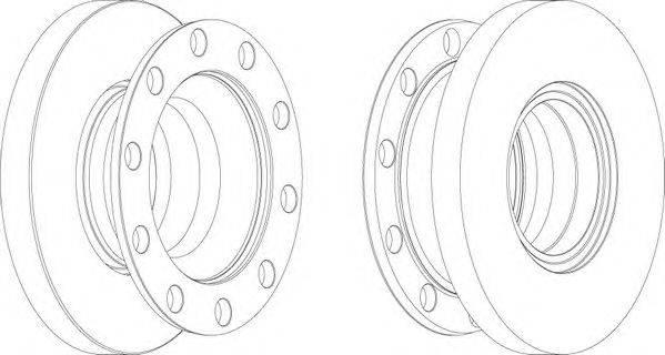 FERODO (НОМЕР: FCR337A) Тормозной диск