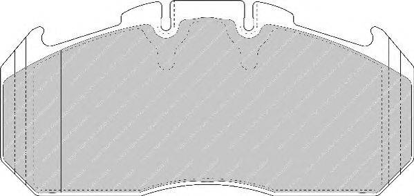 FERODO (НОМЕР: FCV1404BFE) Комплект тормозных колодок, дисковый тормоз