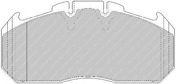 FERODO (НОМЕР: FCV1656BFE) Комплект тормозных колодок, дисковый тормоз