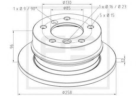 PE Automotive (НОМЕР: 016.290-00A) Тормозной диск