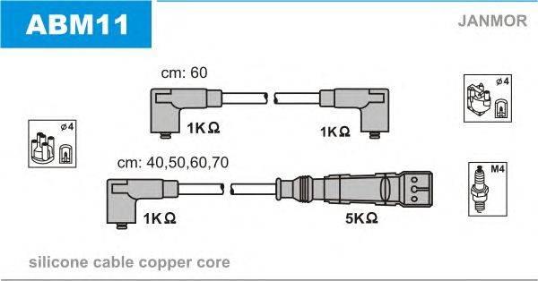 Комплект проводов зажигания JANMOR ABM11