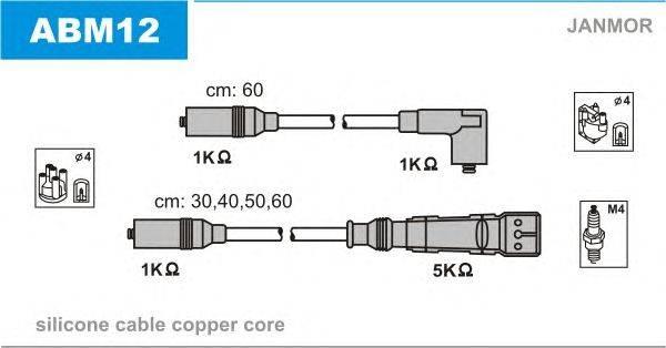 Комплект проводов зажигания JANMOR ABM12