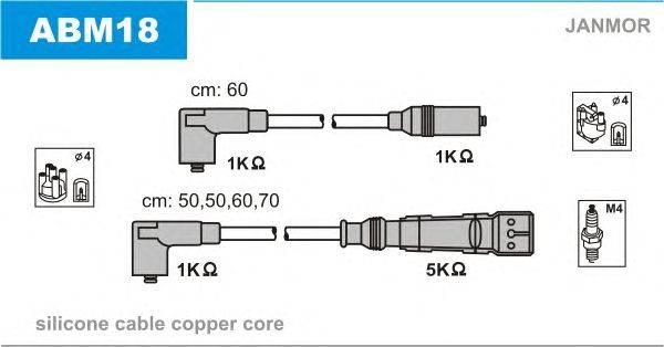 Комплект проводов зажигания JANMOR ABM18