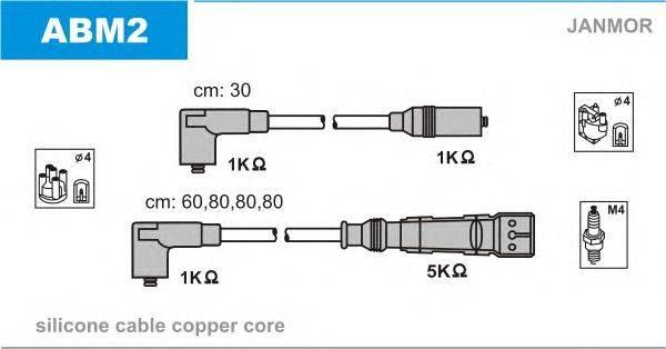 Комплект проводов зажигания JANMOR ABM2