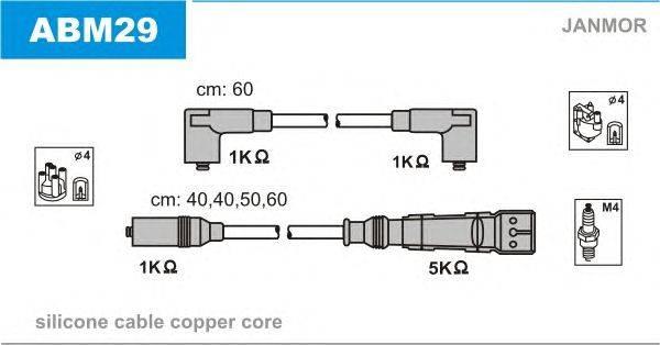 Комплект проводов зажигания JANMOR ABM29