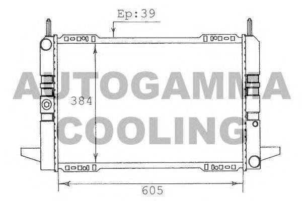 Радиатор, охлаждение двигателя AUTOGAMMA 100363