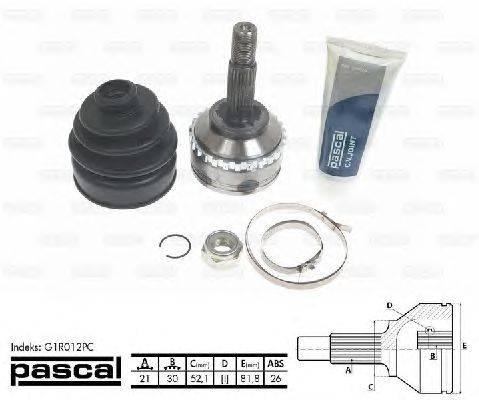 PASCAL (НОМЕР: G1R012PC) Шарнирный комплект, приводной вал