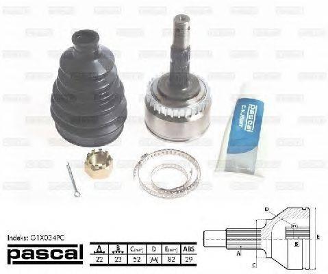 PASCAL (НОМЕР: G1X034PC) Шарнирный комплект, приводной вал