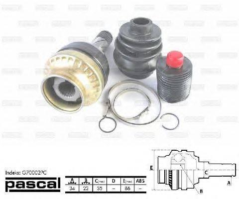 PASCAL (НОМЕР: G70002PC) Шарнирный комплект, приводной вал