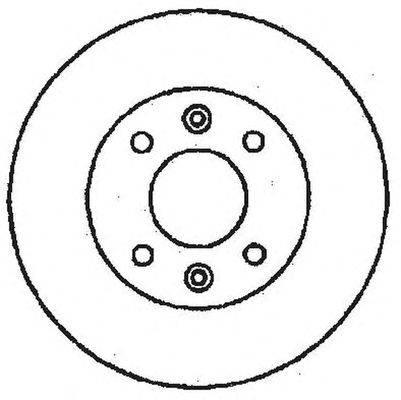 Тормозной диск BENDIX 561235B