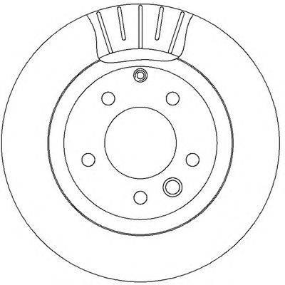 Тормозной диск BENDIX 562393B