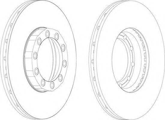 FERODO (НОМЕР: FCR169A) Тормозной диск