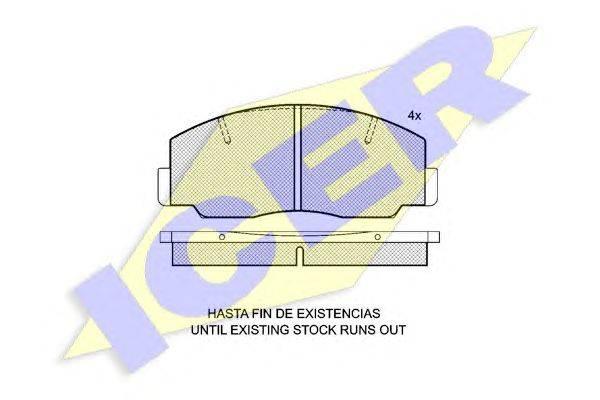 Комплект тормозных колодок, дисковый тормоз ICER 140330